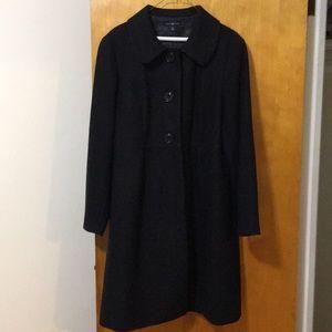 Gap Women's Black Wool Trench Coat